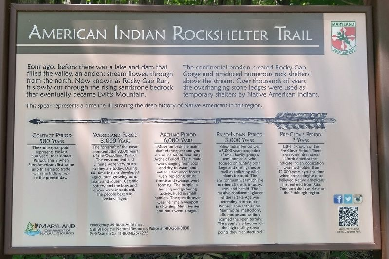American Indian Rockshelter Trail Marker image. Click for full size.