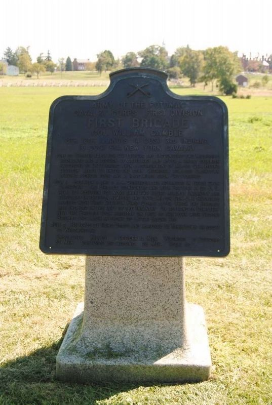 First Brigade Marker Photo, Click for full size
