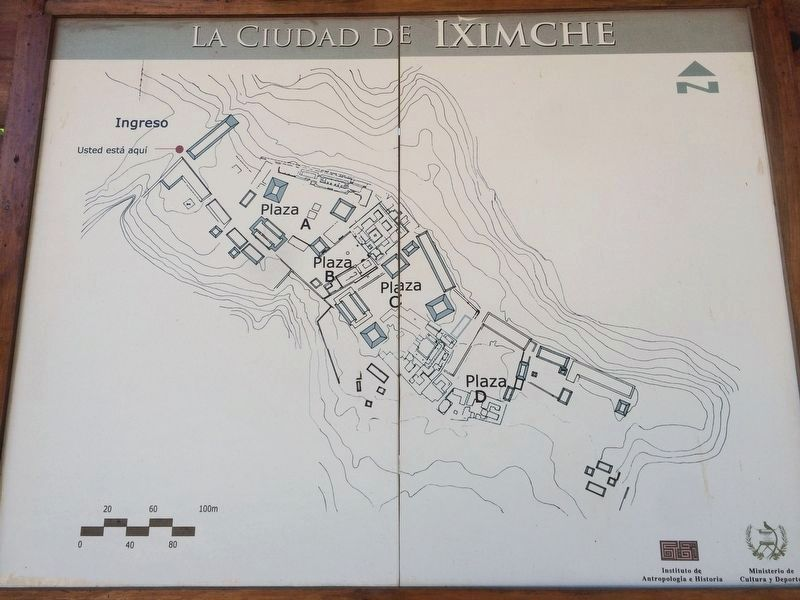 A nearby map of the archaeological park near the marker. image. Click for full size.