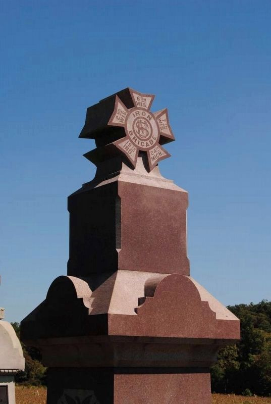 6th Wisconsin Volunteers Monument<br>Iron Brigade Cross image. Click for full size.