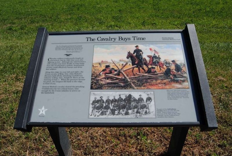 The Cavalry Buys Time Marker Photo, Click for full size