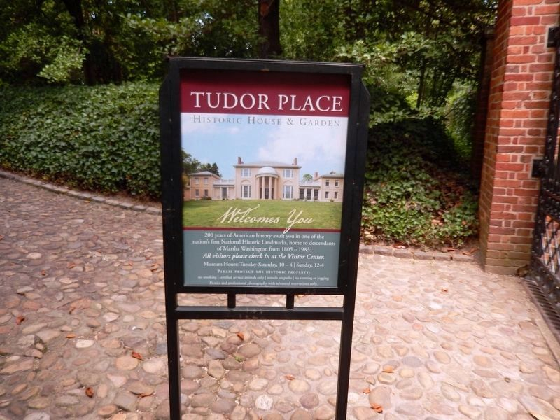 Tudor Place-Historic House and Garden-Entrance sign image. Click for full size.