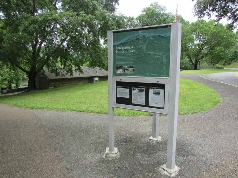 Navigating a Historic River Marker image. Click for full size.