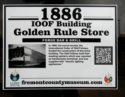 IOOF Building - Golden Rule Store Marker image. Click for full size.