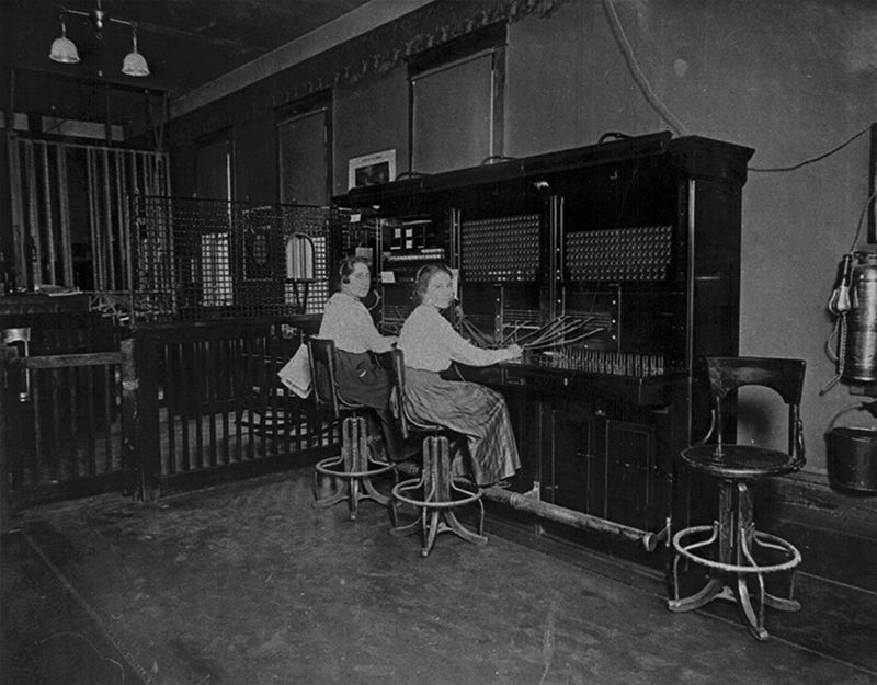 The Telephone Exchange located on the second floor. image. Click for full size.