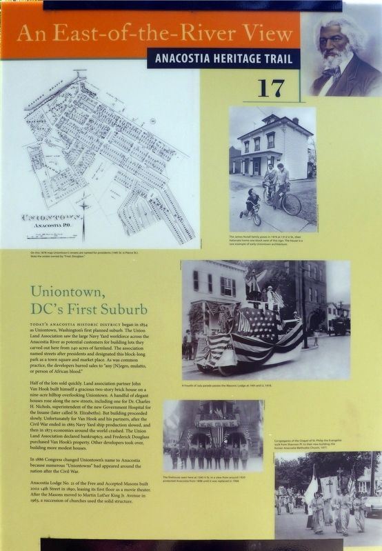 Uniontown, DC's First Suburb Marker image. Click for full size.