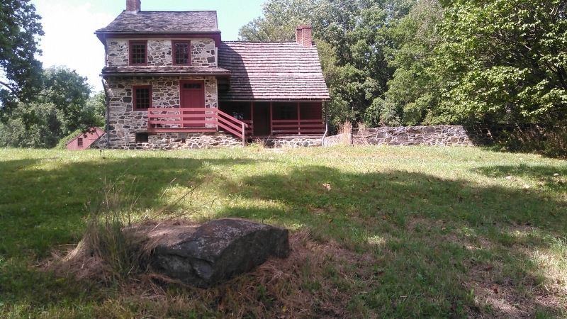 Lafayette's Headquarters & Toppled Marker Stone image. Click for full size.