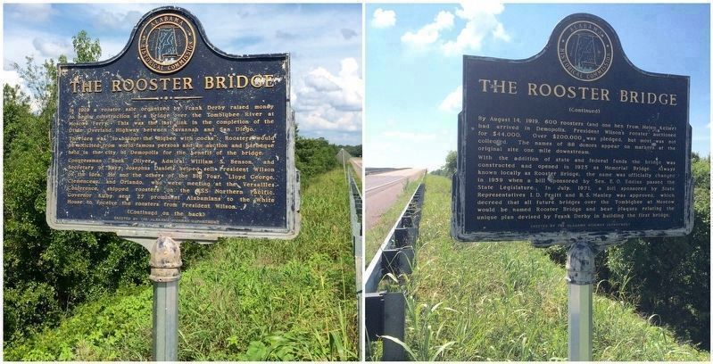 The Rooster Bridge Marker Photo, Click for full size