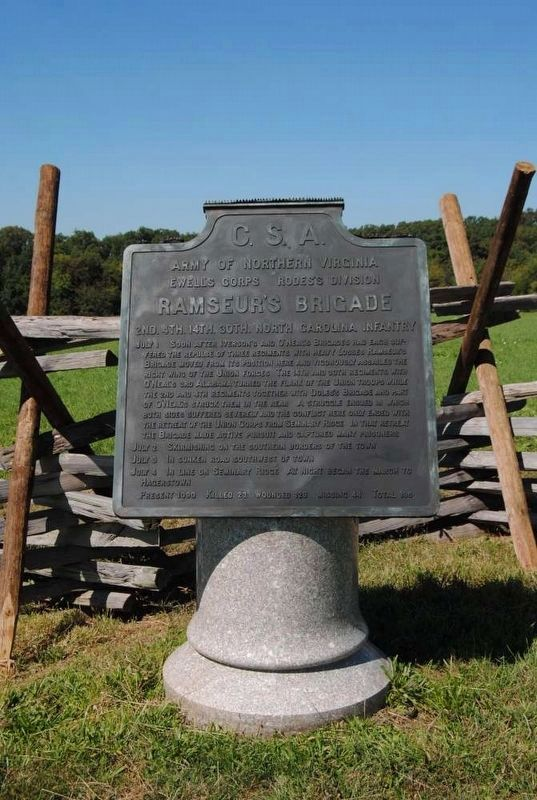 Ramseur's Brigade Marker image. Click for full size.