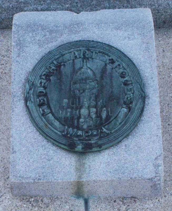 Manchester NH General Pulaski Monument Marker image. Click for full size.
