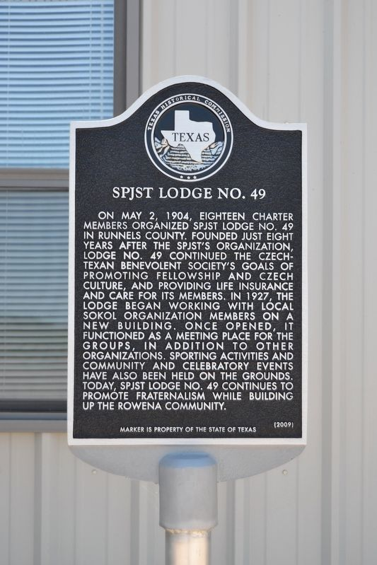 SPJST Lodge No. 49 Marker image. Click for full size.