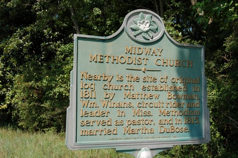 Midway Methodist Church Marker image. Click for full size.