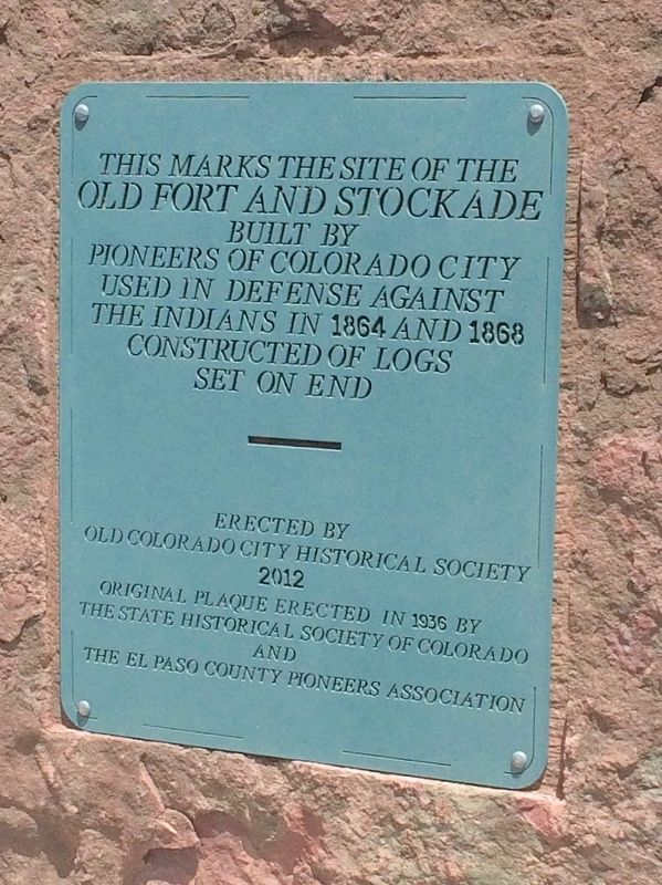 Old Fort and Stockade Marker image. Click for full size.