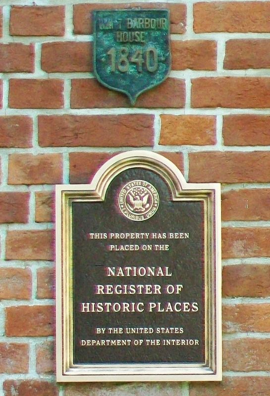 William T. Barbour House NRHP Marker image. Click for full size.
