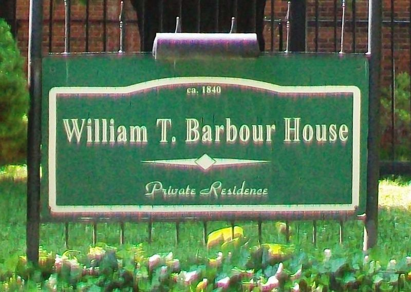 William T. Barbour House Sign image. Click for full size.