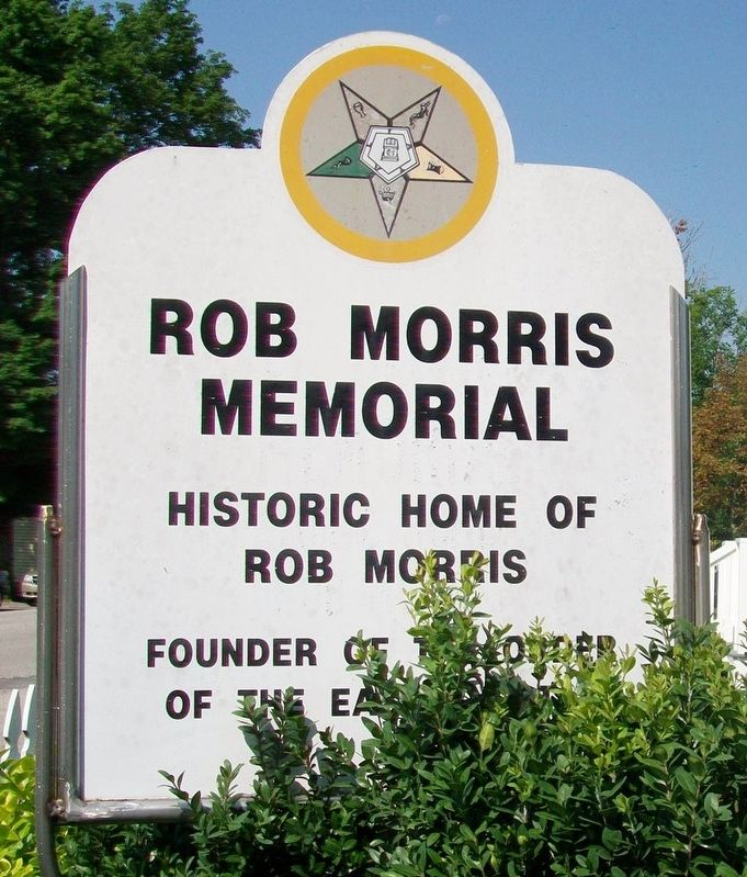 Rob Morris Memorial Sign image. Click for full size.