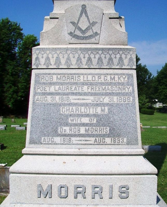 Robert Morris Grave Marker Detail image. Click for full size.