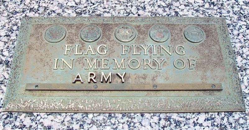 Veterans Memorial Army Marker image. Click for full size.