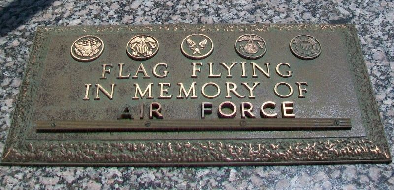 Veterans Memorial Air Force Marker image. Click for full size.