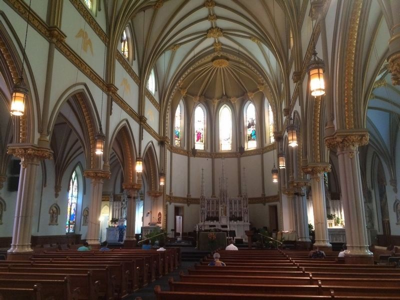 Interior of the Saint Augustine Catholic Church at V and 15th Streets image. Click for full size.