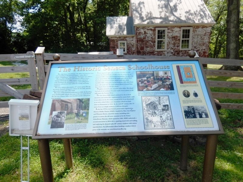 The Historic Seneca Schoolhouse Marker image. Click for full size.
