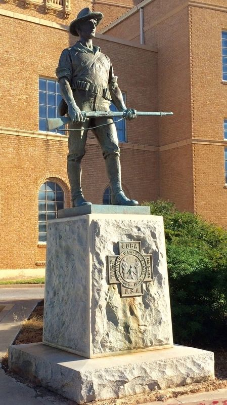 Spanish War Veterans Statue image. Click for full size.
