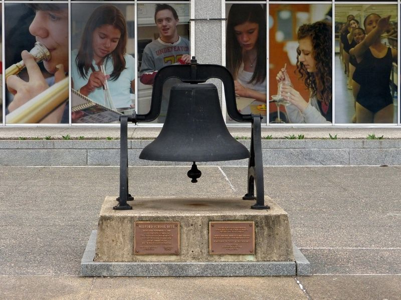 Milford School Bell Marker image. Click for full size.