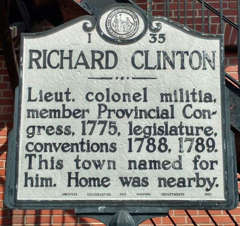 Richard Clinton Marker image. Click for full size.