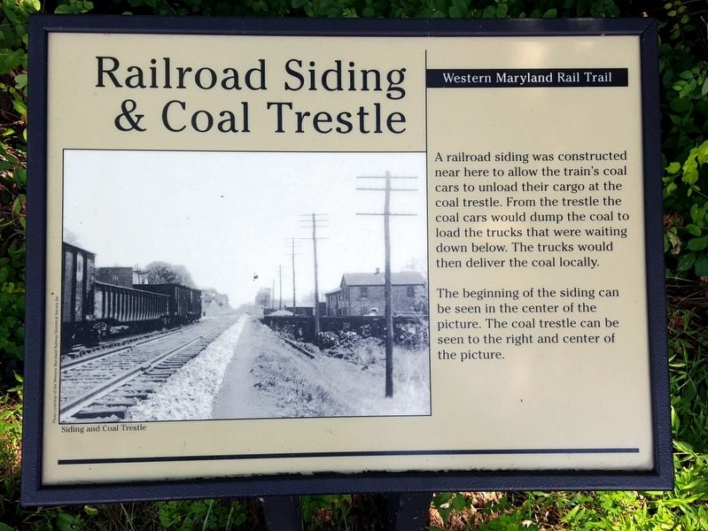 Railroad Siding & Coal Trestle Marker image. Click for full size.