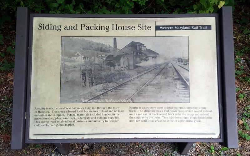 Siding and Packing House Site Marker image. Click for full size.