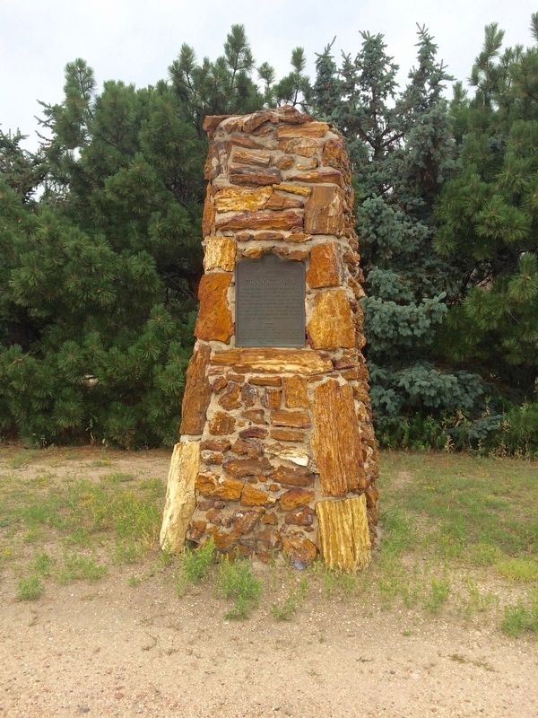 Franktown Marker on stone pillar. image. Click for full size.