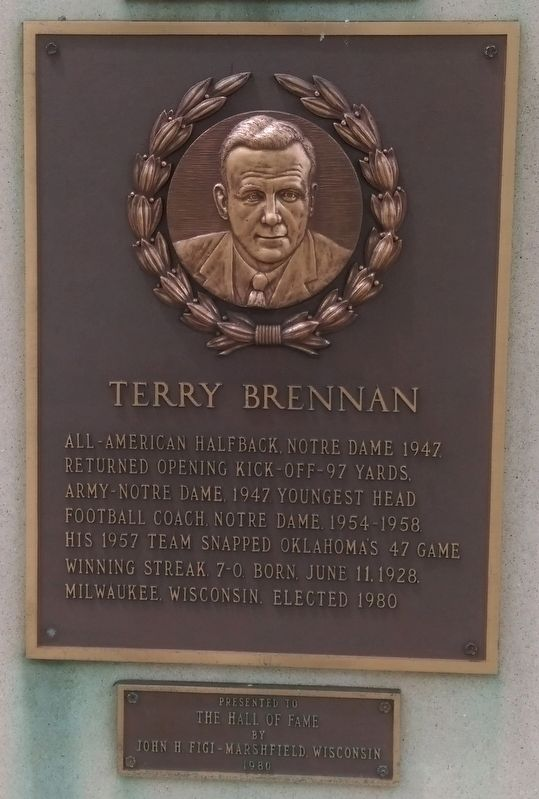 Terry Brennan Marker image. Click for full size.