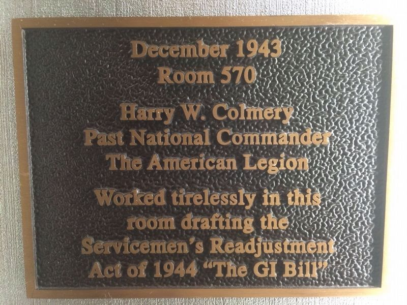 GI Bill Marker at the Mayflower Hotel image. Click for full size.