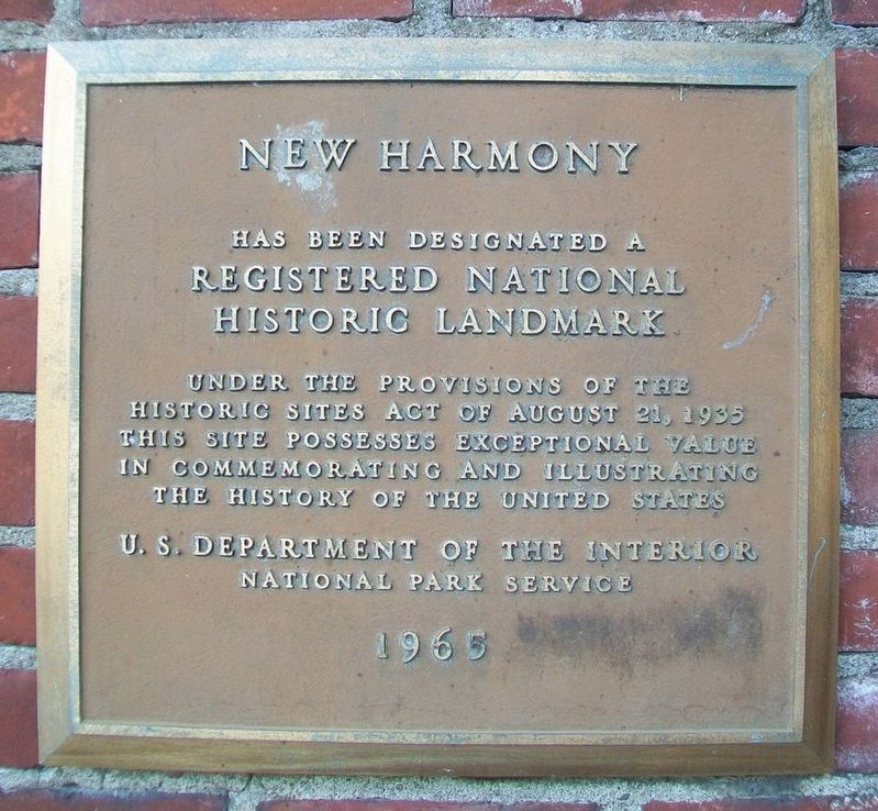 New Harmony NHL Marker image. Click for full size.