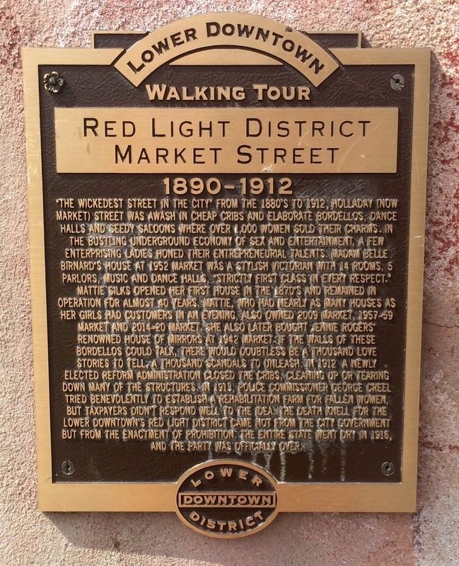 Red Light District Market Street Marker image. Click for full size.