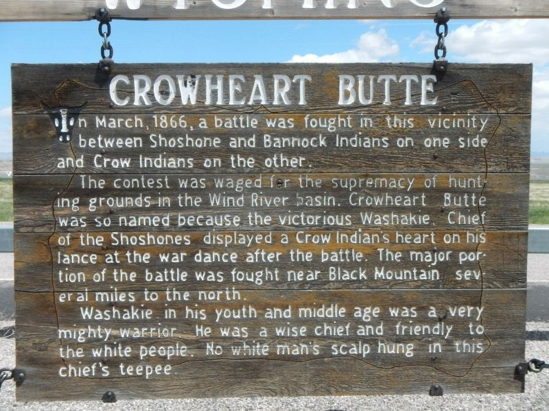 Crowheart Butte Marker image. Click for full size.