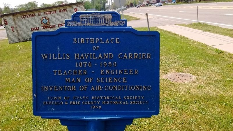 Birthplace of Willis Haviland Carrier Marker image. Click for full size.