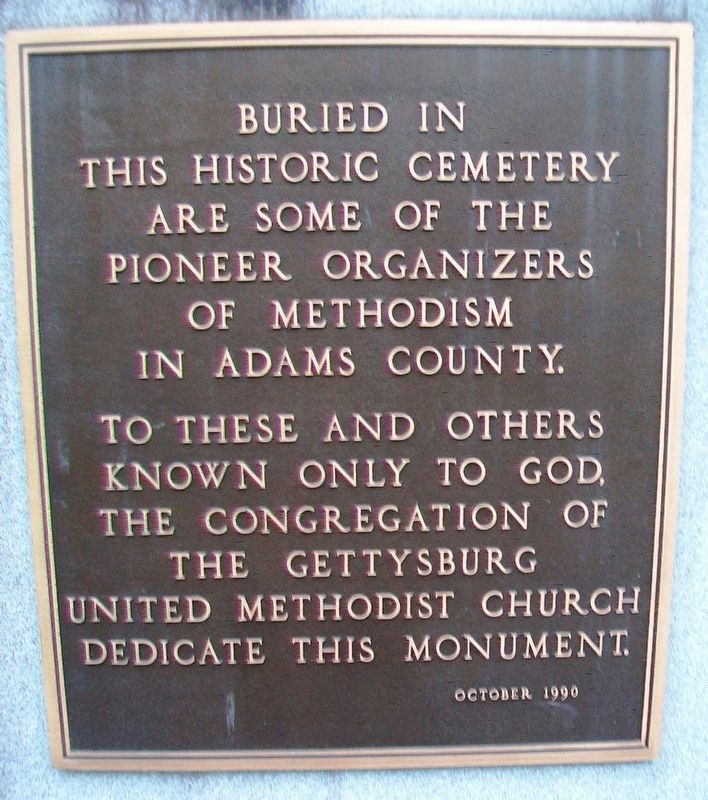 Pioneer Organizers of Methodism in Adams County Marker image. Click for full size.