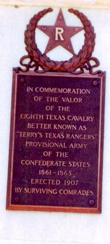 Terry's Texas Rangers Monument Marker image. Click for full size.