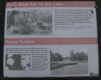 From State Fair to Fair Lane/Peony Garden Marker image. Click for full size.