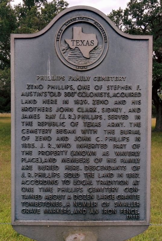 Phillips Family Cemetery Marker image. Click for full size.