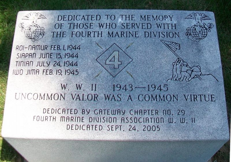 4th Marine Division Monument image. Click for full size.