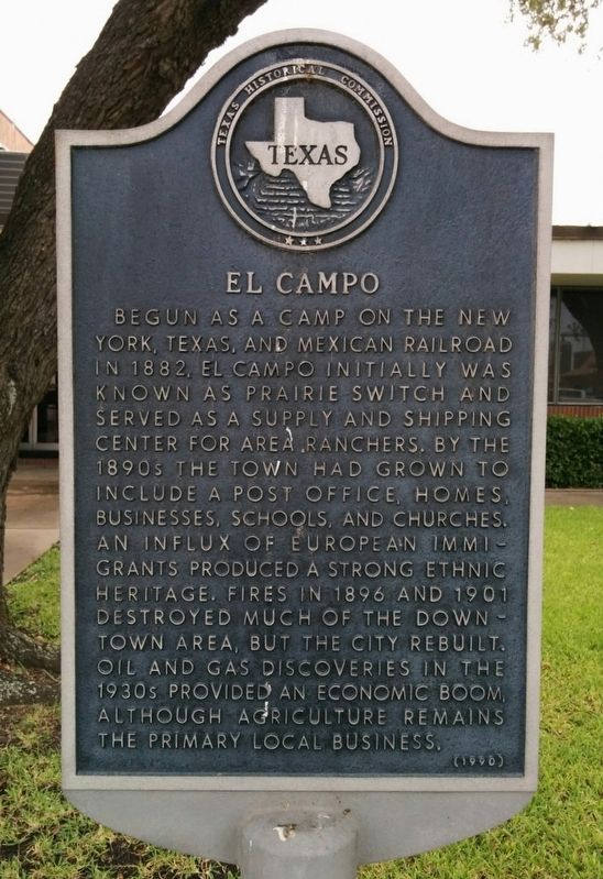El Campo Marker image. Click for full size.