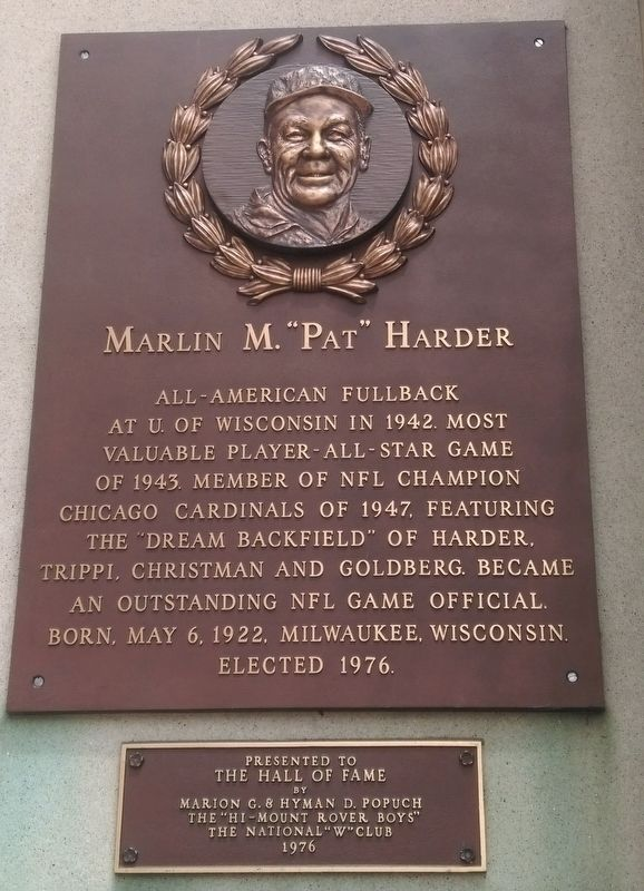 "Marlin M. ""Pat"" Harder Marker image. Click for full size."