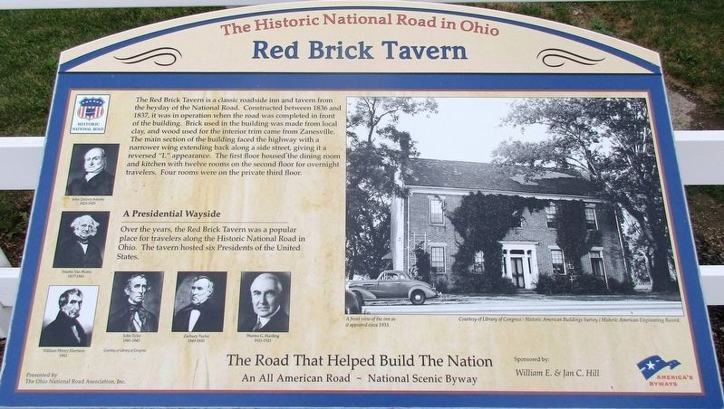 Red Brick Tavern Marker image. Click for full size.