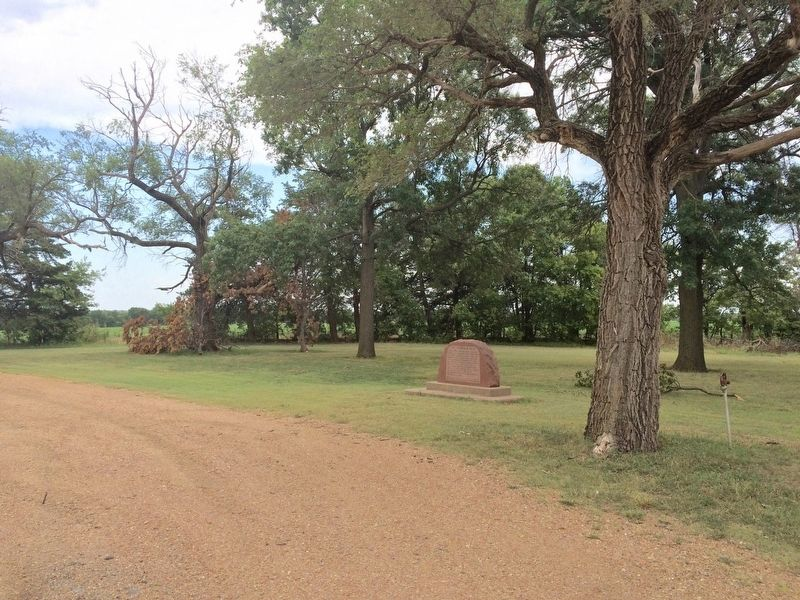 The Chisholm Trail Marker in old roadside park. image. Click for full size.