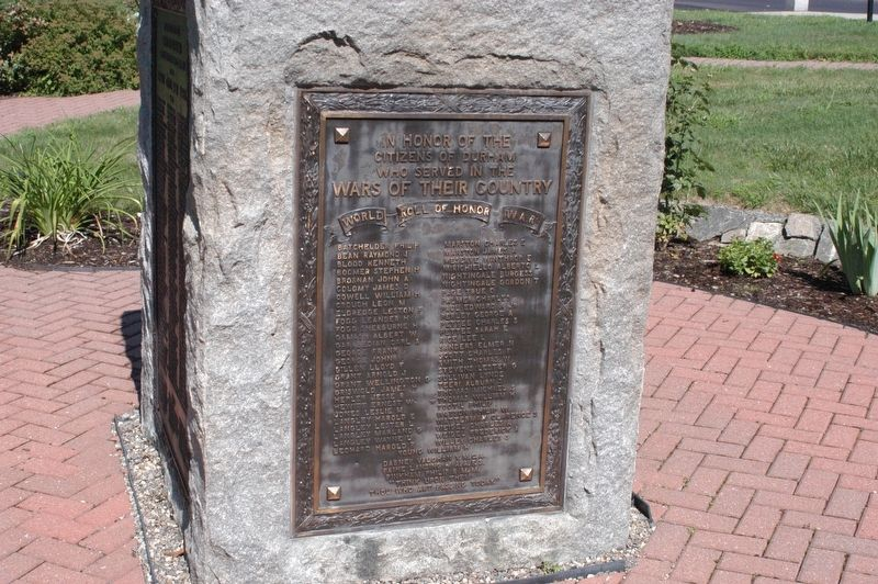 Durham New Hampshire War Memorial Marker Marker image. Click for full size.