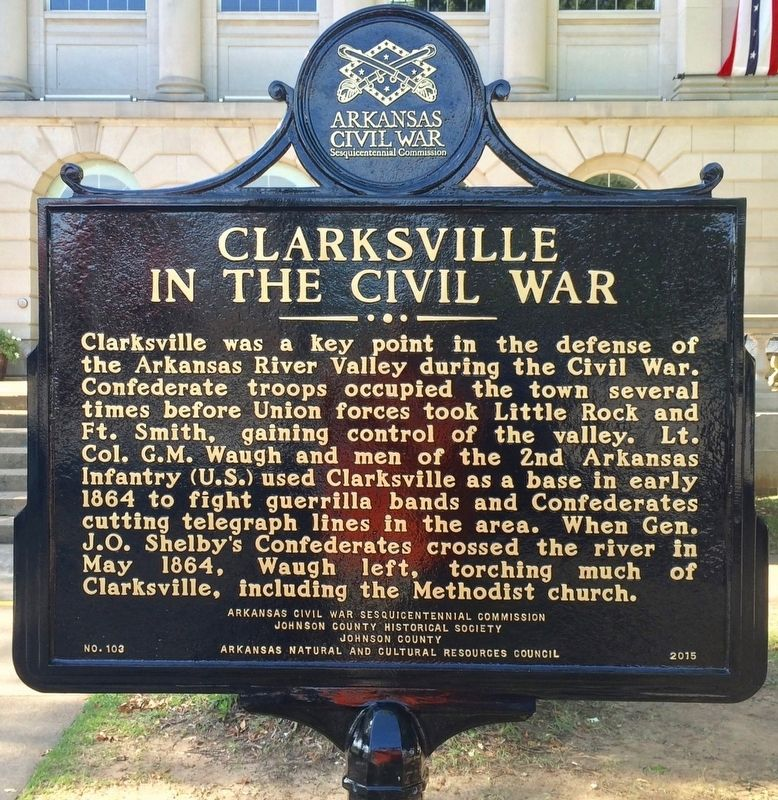 Clarksville in the Civil War Marker (Side 1) image. Click for full size.