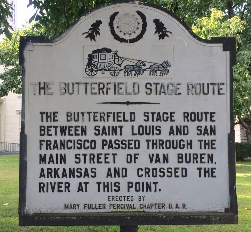 The Butterfield Stage Route Marker image. Click for full size.