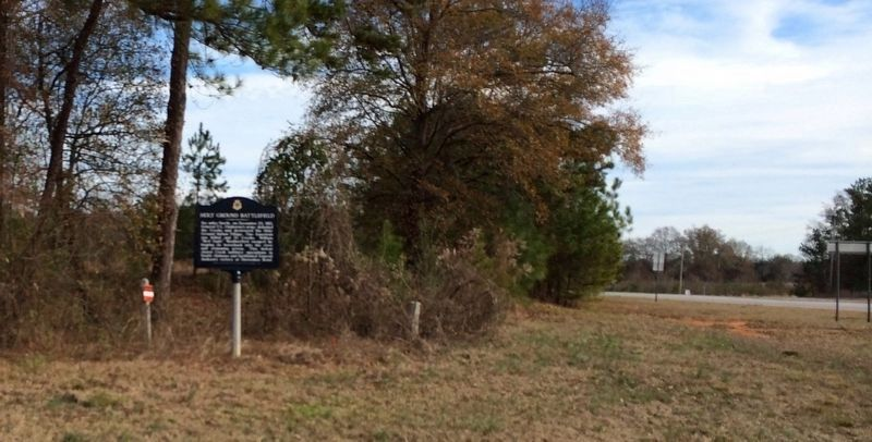 Area view of repainted Holy Ground Battlefield Marker. image. Click for full size.